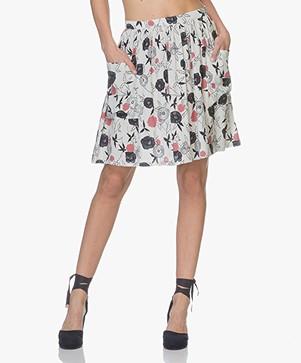 Leï 1984 Vanina Printed A-line Skirt - Estampes