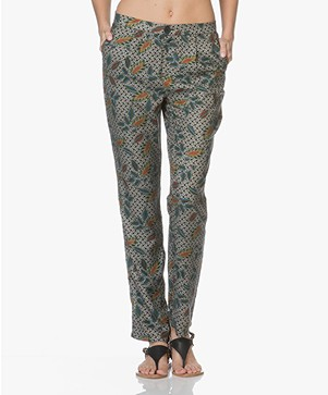MKT Studio Panaco Viscose Print Pants - Black