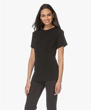 By Malene Birger Liasoui Crepe Jersey T-Shirt - Black