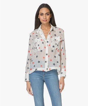 Rag & Bone Pearson Chiffon Shirt - White Multi