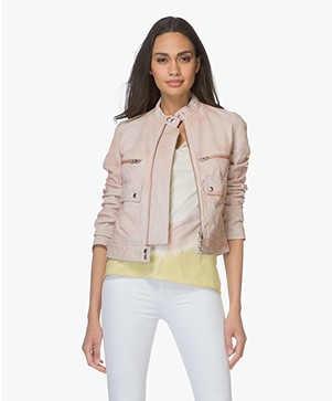 Zadig & Voltaire Love Leather Jacket - Rose