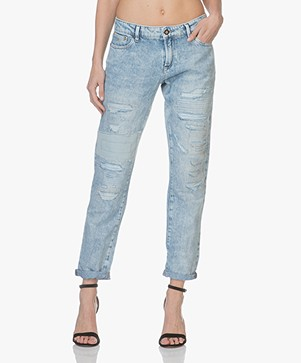 Denham Special Edition Monroe Jeans - Distressed Blue