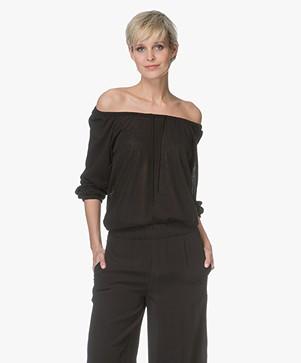 Sibin/Linnebjerg Astrid Drawstring Long Sleeve - Black