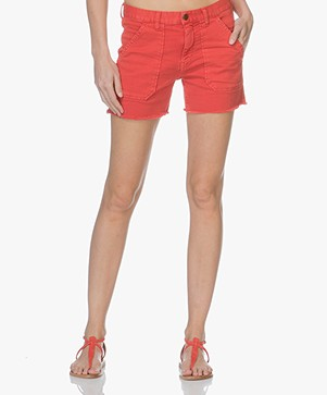 Ba&sh Sirop Denim Shorts - Grenadine