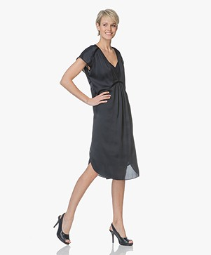 By Malene Birger Mallas Satin Dress - Navy