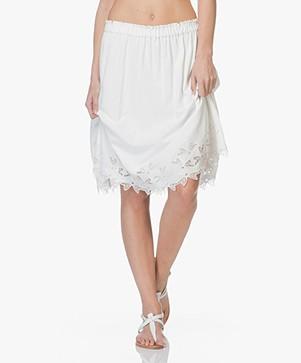 Closed Jasmine Cotton A-line Skirt - Ivory