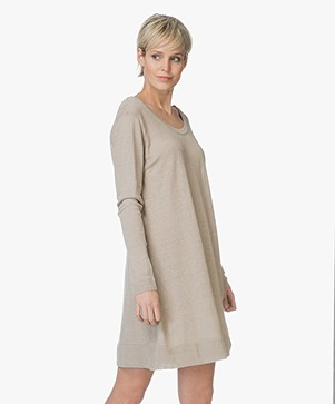 American Vintage Flaxcity Linen Dress -  Ficelle