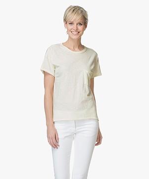 Rag & Bone Vintage Crew T-shirt - Pale Yellow