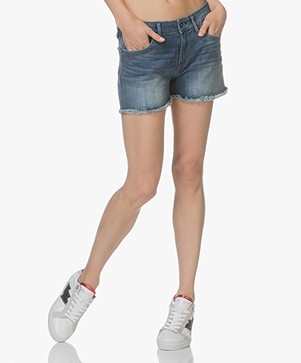 Denham Monroe Denim Shorts - Mid Blue