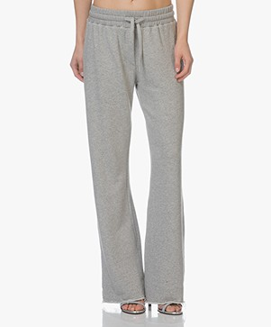 Project AJ117 Adite Plain Wide Leg Sweatpants - Grey