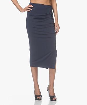 By Malene Birger Dicason Crepe Jersey Skirt - Navy Blazer