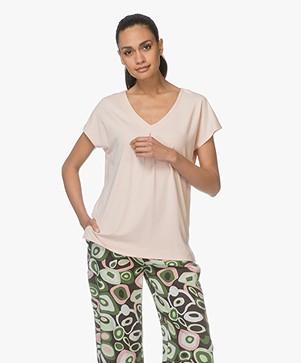 Kyra & Ko Coco V-neck T-shirt - Salmon