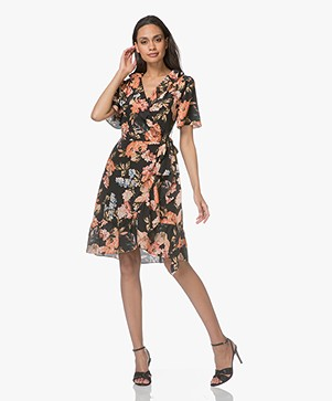 FWSS Synne Silk Floral Dress - The Tropical Black