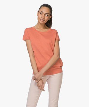 Marie Sixtine Eloise Knitted Top - Terracotta