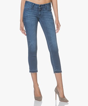 Closed Starlet Cropped Skinny Jeans - Strong Blue Denim