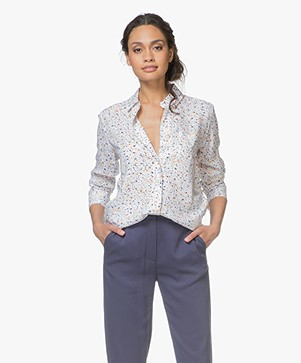 Denham Adventure Viscose Blouse - Dry Dot Print