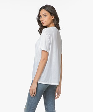 868f3cde70 ... ANINE BING Deep V-neck T-Shirt - White ...