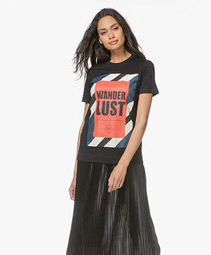 By Malene Birger Ottova Statement T-shirt - Zwart