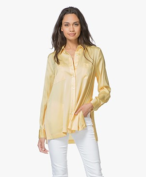 Repeat Silk Shirt - Light Yellow