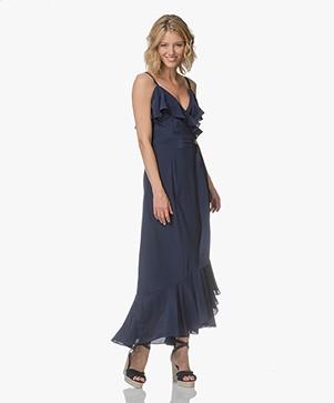 FWSS Agnes Silk Wrap Dress - Maritime Blue