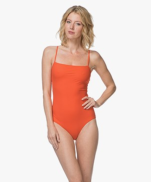 Filippa K Soft Sport Strap Badpak - Pop Orange