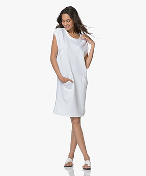 BY-BAR Rose Cap Sleeve Sweat Dress - White