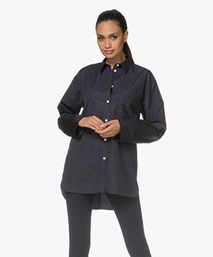 Filippa K Poplin Shirt - Navy