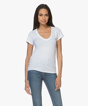 Rag & Bone Katoenen U-hals T-shirt - Wit
