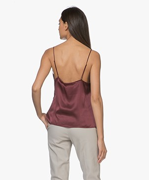 ANINE BING Deep V Lace Camisole - Bordeaux