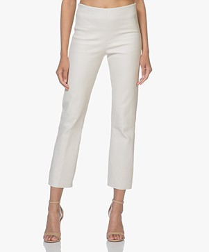 By Malene Birger Florentina Leather Pants - Angora