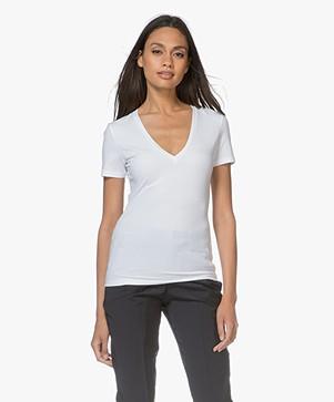 Drykorn Linara V-hals T-shirt - Wit