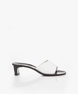 ATP Atelier Peonia Vachetta Leather Mules - White