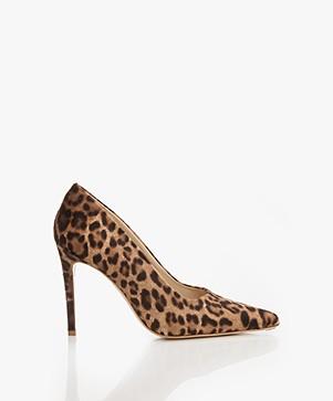 Feraggio Ponyhair Pumps - Leopard Print
