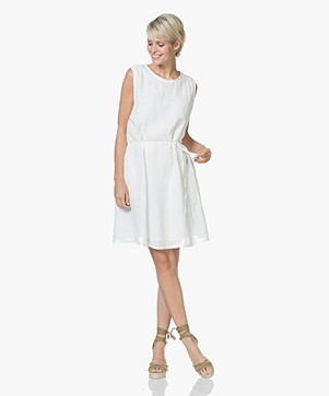 American Vintage Ficobay Sleeveless Linen Dress - White