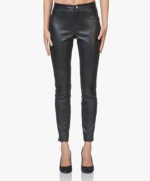 BOSS Saby Faux-leather Pants - Open Blue