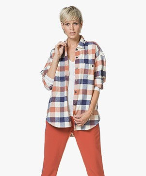 Closed Zadie Flanel Checked Blouse - Multi-color