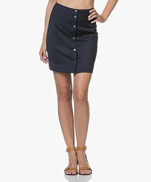 Filippa K Twill Skirt - Navy