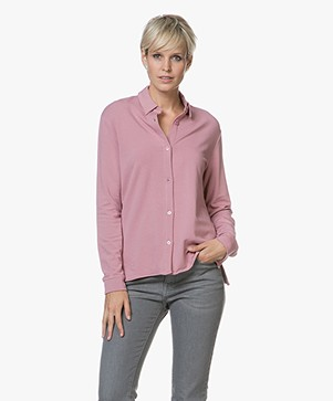 Majestic Viscose Blouse in Fleece Jersey - Bruyère