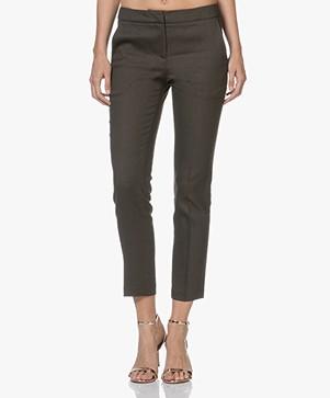 Ba&sh Tonic Cropped Pants - Khaki Brown
