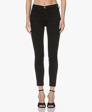 Current/Elliott The High Waist Stiletto Skinny Jeans - Jet Black