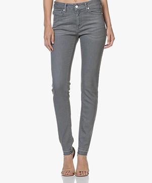 Zadig & Voltaire Eva Raw Hem Slim-fit Jeans - Grey