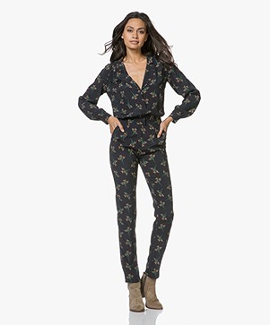 ba&sh Fady Jumpsuit with Print - Black