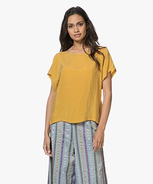 Drykorn Somia Cupro Blouse - Geel