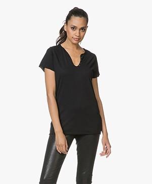 Zadig & Voltaire Tunisien Affich Cowbo T-shirt - Zwart