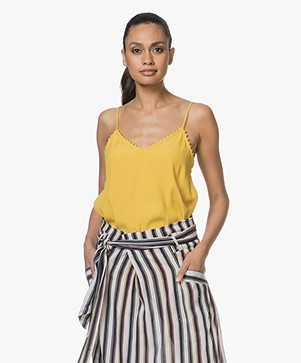Ba&sh Fox Viscose-crêpe Top - Geel