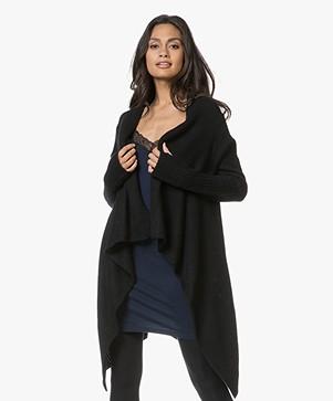 Zadig & Voltaire Cambi Deluxe Cashmere Open Cardigan - Black
