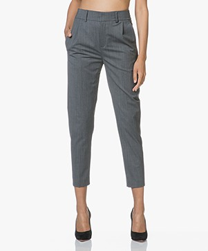 Drykorn Find Tapered Wool Blend Pants - Grey Melange