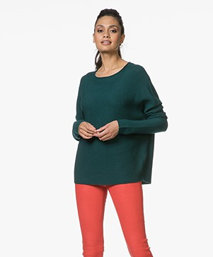 Drykorn Milty Rib Knitted Pullover - Bottle Green