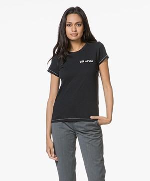 Rag & Bone Yin Yang Jersey T-shirt - Zwart