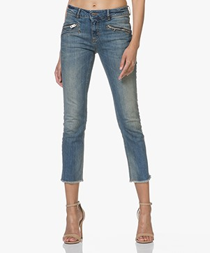 Zadig & Voltaire Ava Skinny Cropped Jeans - Blauw